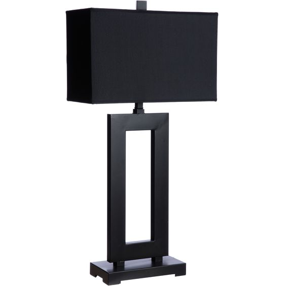 Mocha metal table lamp with dark shade by i love living - Creative lamp designs to brighten up your living space ...