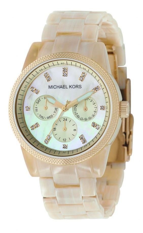 Michael Kors Women's MK5039 Ritz Horn Watch : Disclosure: Affiliate link  *$141.00 - 146.59
