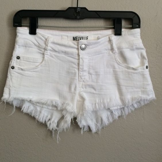 "Brandy Melville Cut Off Shorts These shorts were made in Italy.  It has the European size 36 (equivalent to a 4), but this fits more like a size 0-2.  They are low rise and measures 27"" around the waist/hip. There is a little stain in the back right pocket shown in photo above. Brandy Melville Shorts Jean Shorts"