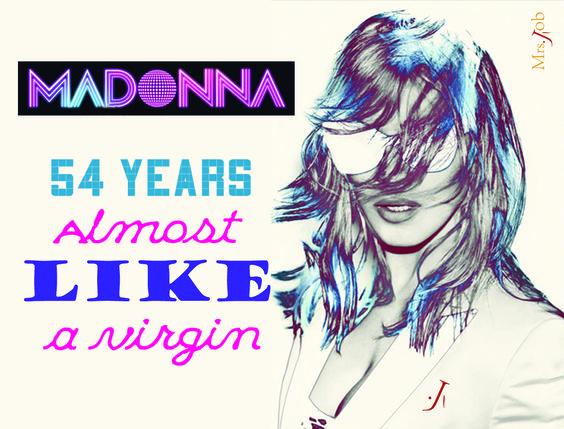 Arte em homenagem ao aniversário da Madonna