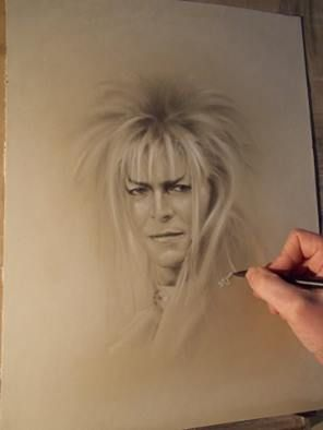 For the late great David Bowie. This is an awesome sketch of him in his prime. RIP