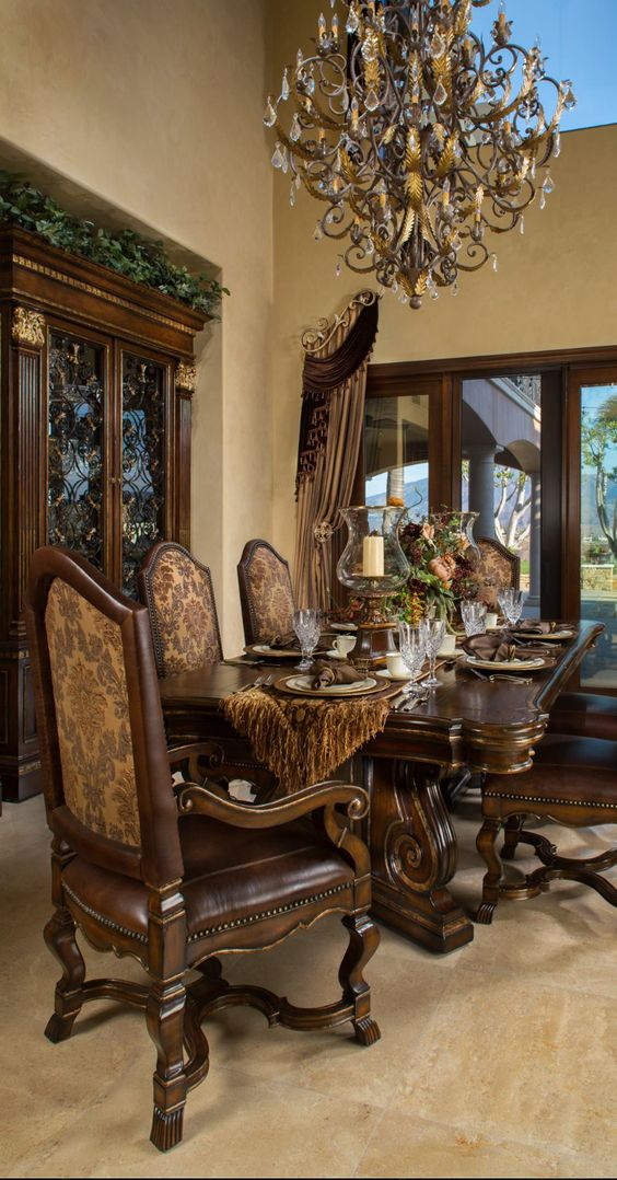 969 Best Interior Design Old World Traditional Tuscan Dining Rooms And Breakfast Areas Images On Pinterest