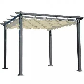 Techo hecho con tela o lona retractil techos de terrazas - Cama con techo de tela ...