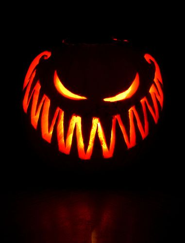 Scary pumpkin carving