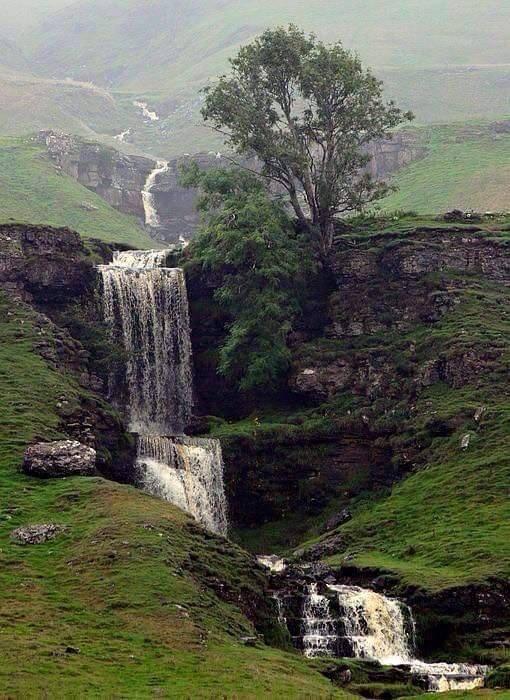 Gill Waterfall, Cray near Skipton, North Yorkshire.