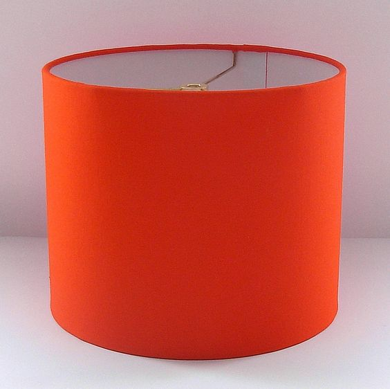 orange lamps drum shade and lamp shades on pinterest. Black Bedroom Furniture Sets. Home Design Ideas