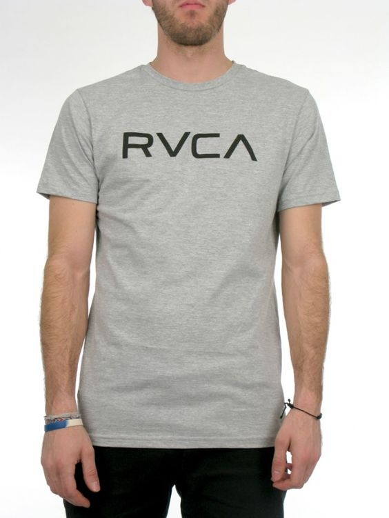 The RVCA Big RVCA is a standard fit tee with front screen print and screened inside neck. 100% cotton