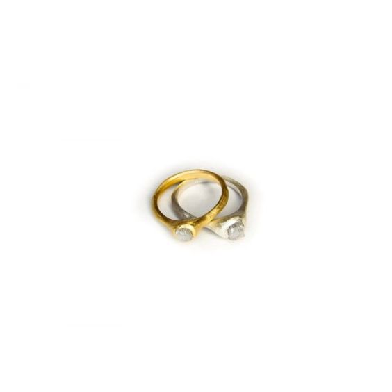 RAW golden wild diamond ring | Linda Friedrich Jewelry  #winboticca