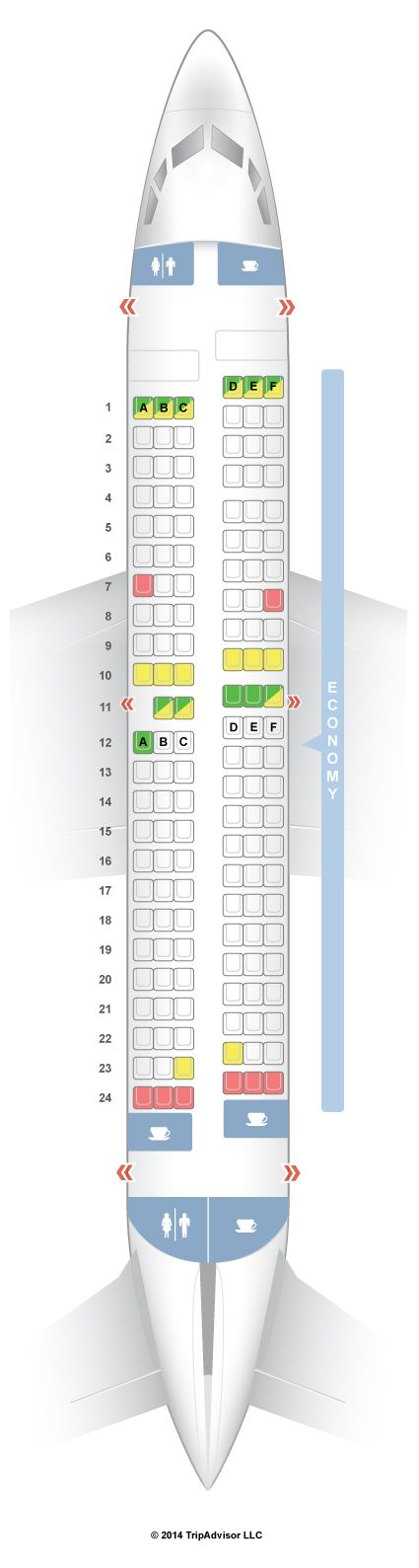 SeatGuru Seat Map Southwest Boeing 737-700 (737 ...