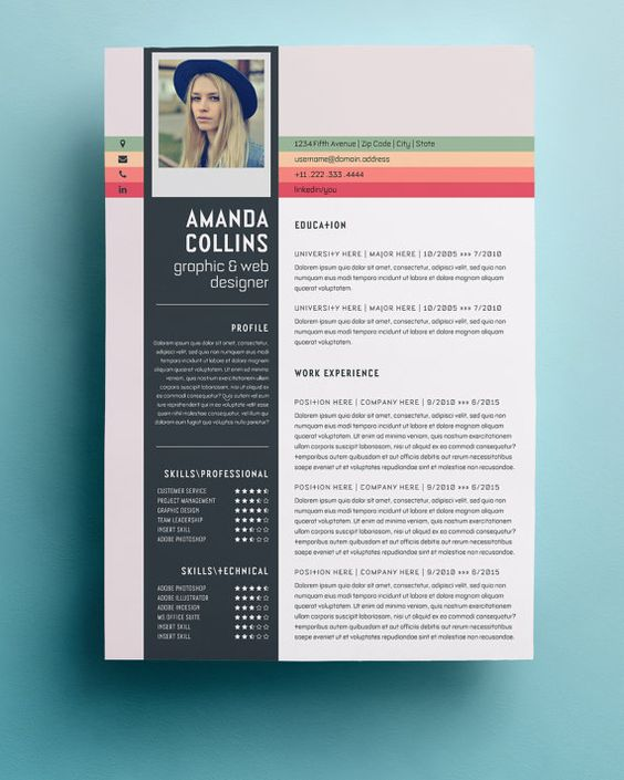 Resume Template Professional, Creative and Modern Resume Design - design resume samples
