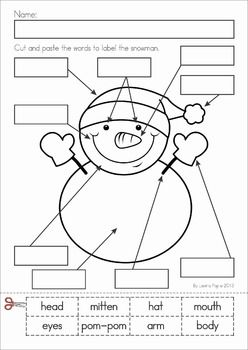 math worksheet : winter literacy worksheets and activities no prep  literacy  : Snowman Worksheets Kindergarten