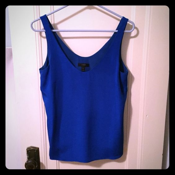 100% silk royal blue tank Gorgeous silk tank, fully lined, from the J.Crew black label collection J. Crew Tops Tank Tops