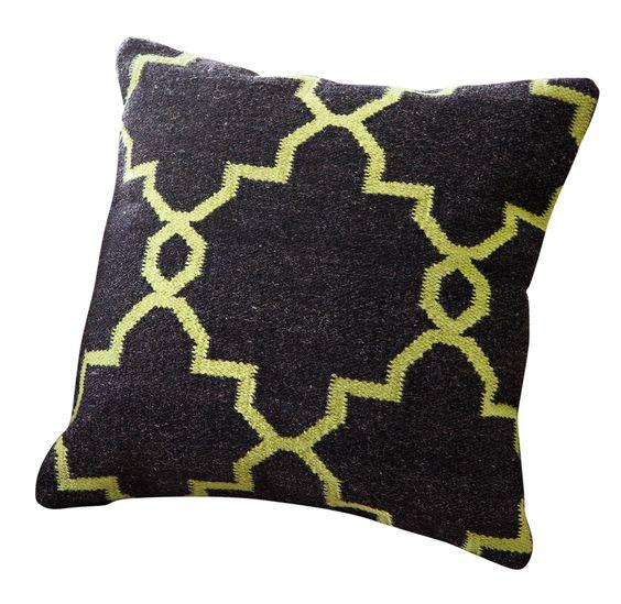 Goodfield Lattice Wool Throw Pillow