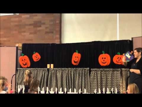 """Lehi Library Programming department does puppet shows a few times a year. Quite a treat   """"Five Little Pumpkins"""""""