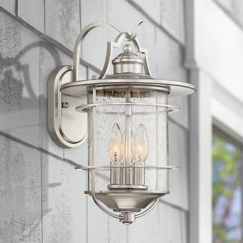 Casa Mirada 16 1 4 High Brushed Nickel Outdoor Wall Light 34n20 Lamps Plus Exterior Light Fixtures Outdoor Wall Lighting Wall Lights