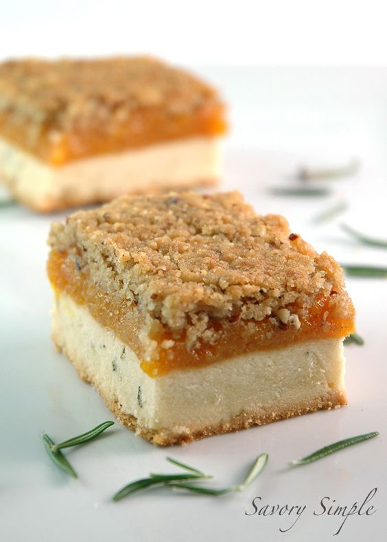 Rosemary Apricot Bars - rosemary speckled sweet shortbread, a decadent ...