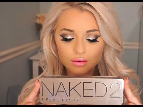 Urban Decay Naked 2 Palette Makeup Tutorial seems like A LOT of make up but looks awesome
