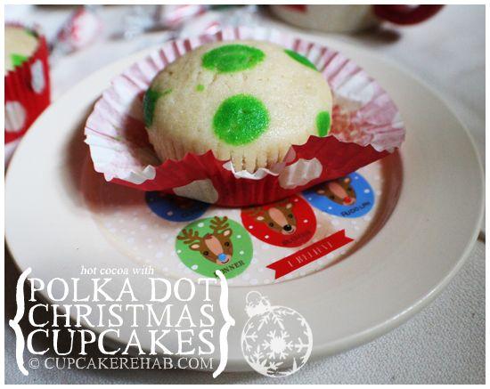 @KatieSheaDesign  ❥ ♡❤♥  #Christmas #Cupcakes ❤♡♥  Cupcake Rehab - Polka dot cupcakes for Christmas!