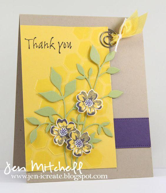 I Create, thank you card, colourQ 238, sketch saturday 306, jen-icreate.blogspot.com