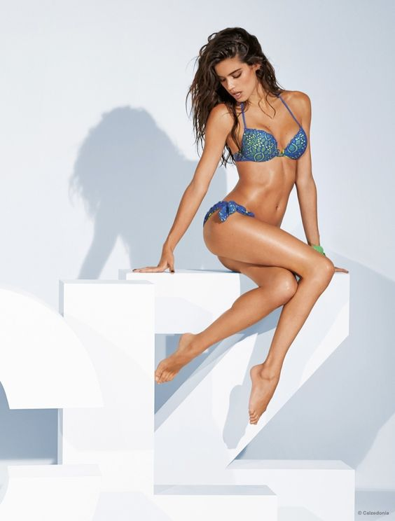 Sara Sampaio Models Calzedonia Bikinis for Summer 2015 Ads