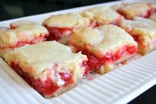 Cherry pie bars - do it with blueberries too??