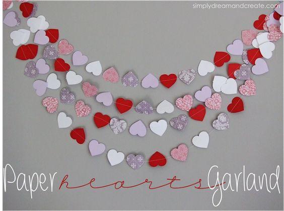 Simply Dream & Create: Paper Hearts Garland