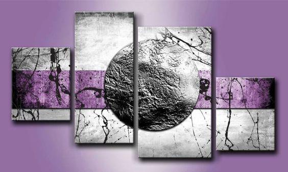 Mh 001 cuadro luna plateada cuadros modernos - Cuadros para salon modernos ...