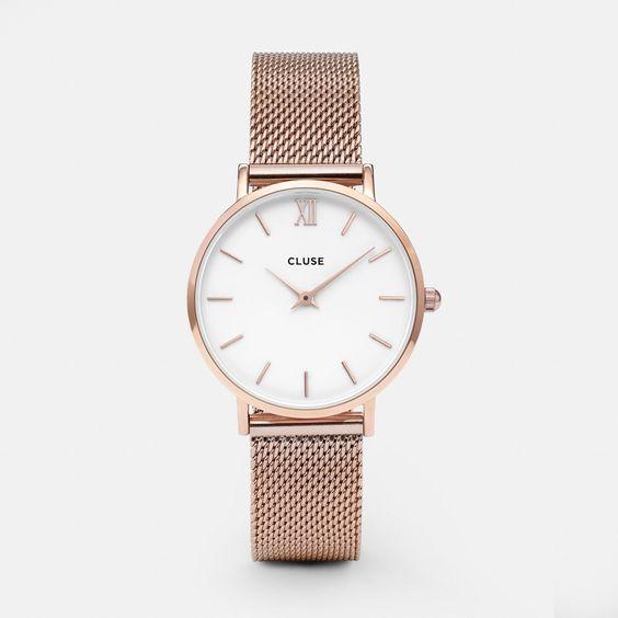 Horloge € 99 Clusewatches.com En ik beloof dat ik 'm draag! (voor bij alle jurkjes waar mijn witte horloge te grof bij is