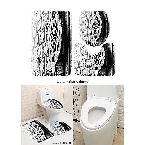 Chaoranhome Pattern Bath Mat Set 3 Piece Bathroom Mats Detail Of