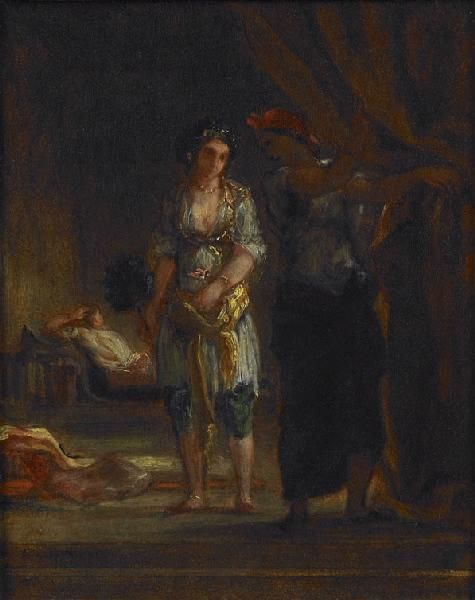 Eugène Delacroix - Intérieur de harem à Oran