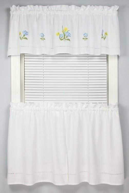 Moments Embroidered Tier Curtain Curtain Bath Outlet Tier