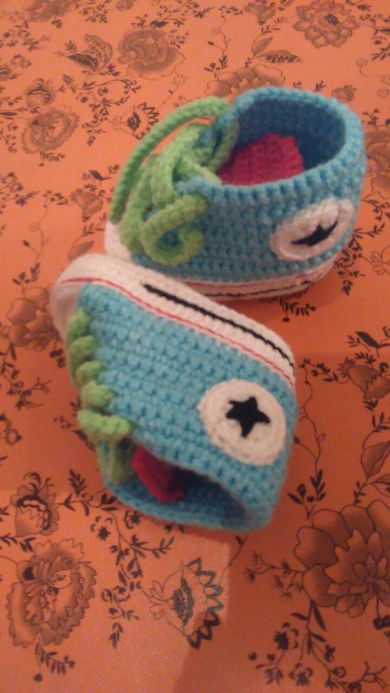 Zapatillas al crochet!!