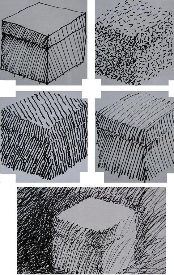 Arceren en texturen tekenen