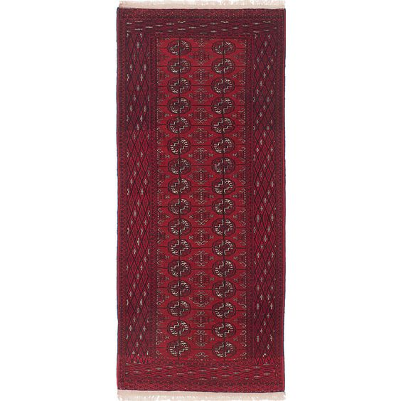ecarpetgallery Hand-Knotted Shiravan Bokhara Red Rug