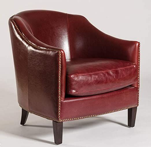 Pair Of 2 Comfortable Red Leather Madison Club Chairs Comfy Leather Chair Club Chairs Accent Chairs For Sale Leather club chairs for sale