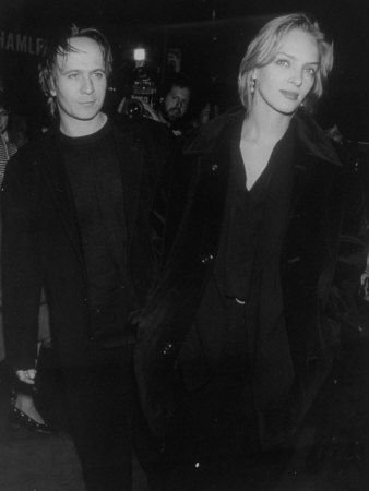 """Married Actors Gary Oldman and Uma Thurman at Film Premiere of Motion Picture """"Final Analysis"""""""