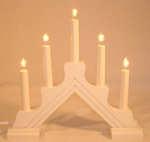Swedish Candelabra Mathilda 5 White Candelabra Swedish Design Candleabra Ideas