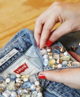 How to #DIY a fancy studded collar