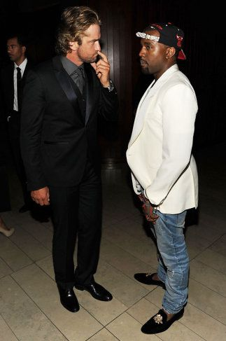Gerard Butler and Kanye West at CFDA awards (2011)