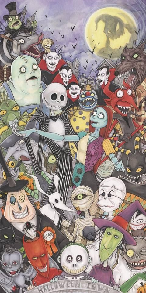 The Nightmare Before Christmas By Chrisozfulton On D Nightmare Before Christmas Wallpaper Nightmare Before Christmas Drawings Nightmare Before Christmas Tattoo