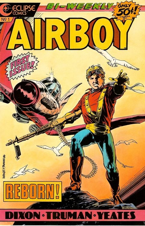 Airboy #1, July 1986, cover by Stan Woch and Tim Truman.