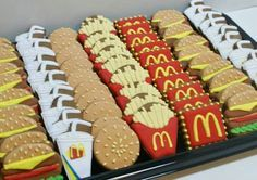 """Fast food cookies - probably about the same calories in the cookies as in the """"real thing"""""""