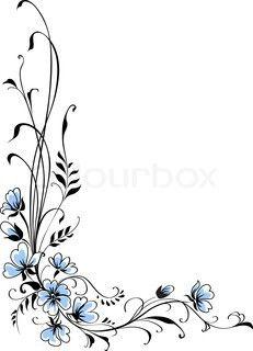 Floral baggrund blå blomst vektor