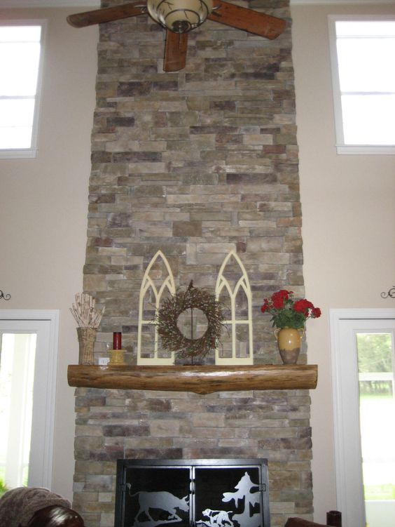 Interior Fireplace Owens Corning Bucks County Ledgestone