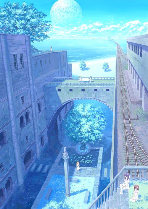 Grafika Blue Anime Scenery And Water Anime Scenery Anime Scenery Wallpaper Anime Background
