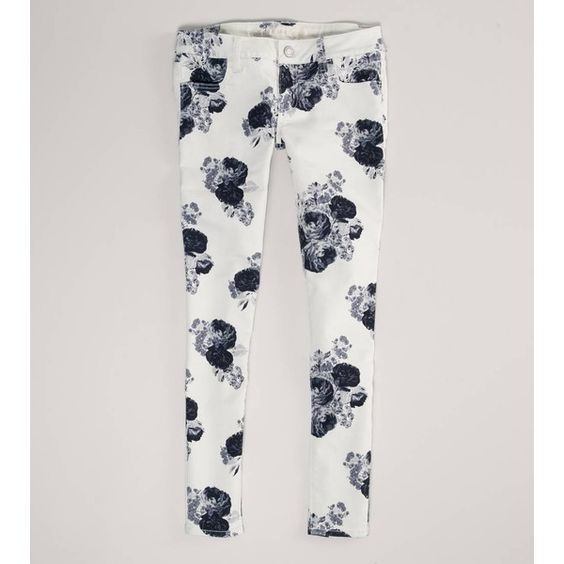 American Eagle Outfitters Floral Jegging ($25) ❤ liked on Polyvore