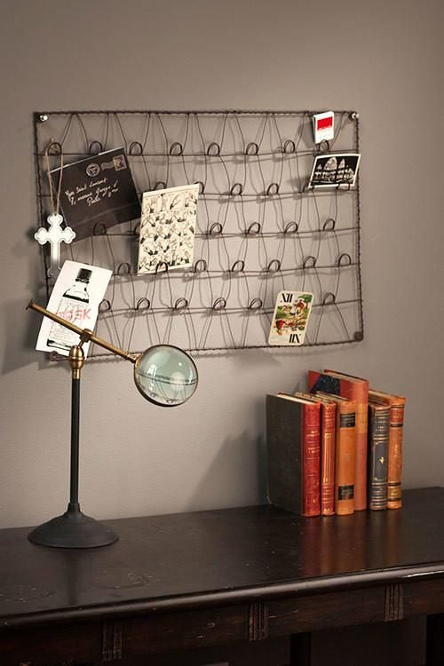 Vagabond Vintage Wire Wall Mounted Card Holder In 2021 Diy Magazine Holder Vagabond Vintage Decor