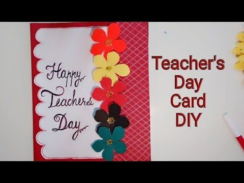 Teacher S Day Special Card For School Children Paper Craft Youtube Diy Pop Up Cards Diy Teacher Gifts Teachers Day Card