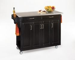 Create-A-Cart Stainless Top - Black