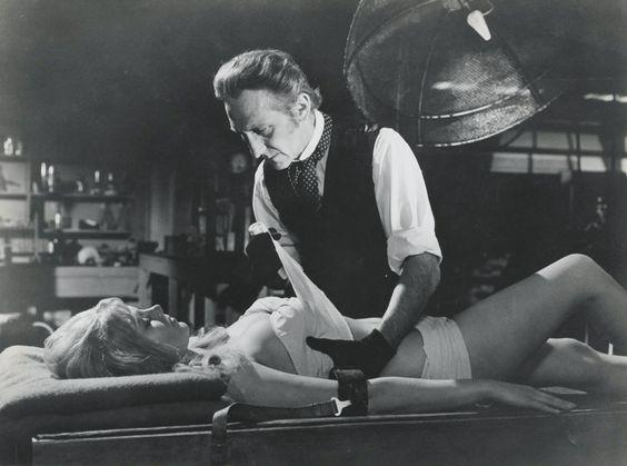 Christina (Susan Denberg) & Baron Victor Frankenstein (Peter Cushing) - Frankenstein Created Woman (1967)
